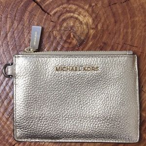 New Michael Kors Gold Identity Credit Card Holder